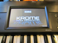 Myydään asiakkaan lukuun Keyboard Korg Krome 73 + pussi + pedaali + virtalähe (käyt)
