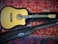 Myydään asiakkaan lukuun Elektro-akustinen kitara VGS P-10 CE Polaris(käyt) + kotelo(käyt)