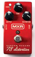 Säröpedaali MXR M78 Custom Badass '78 Distortion