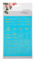 Tarrasetti, Faux Leather Foil Embossed Stickers, Teal