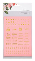 Tarrasetti, Faux Leather Foil Embossed Stickers, Pink