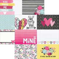 Simple Sets Love & Adore Double-Sided Elements Cardstock 12x12