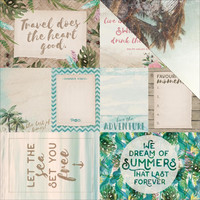 Island Escape Double-Sided Elements Cardstock, Kahakai 12x12