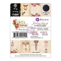 Journaling Notecards, Love Clippings, 3'X4', 45kpl