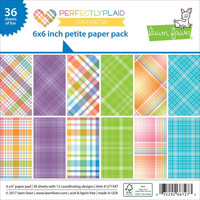 Paperikko, 6'x6' Lawn Fawn Perflectly Plaid Rainbow, 36sivua