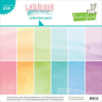 Paperikko, 12''x12'' Lawn Fawn Watercolor Wishes, 12sivua