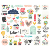 Carpe Diem Faith Bits & Pieces Die-Cuts, 44kpl