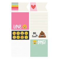 Carpe Diem Emoji Love Sticky Notes, tarralaput