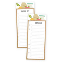 Carpe Diem Recipe Shopping List Double-Sided Bookmark Tablet A5