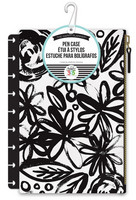 Happy Planner Snap In Pen Case - Black Flowers