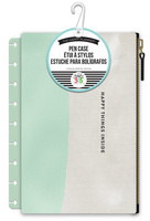 Happy Planner Snap In Pen Case - Mint/White