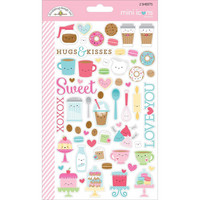 Doodlebug Mini Icons, Cream & Sugar Stickers, 2 arkkia
