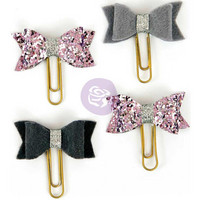My Prima Planner Clips, Silver Violet