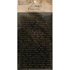 Tim Holtz Idea-Ology Metallic Stickers, Quotations Black Gold & White Gold, 316 tarraa