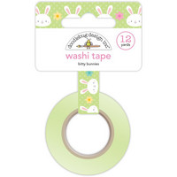 Doodlebug Washi Tape, Bitty Bunnies, 15mmX11m