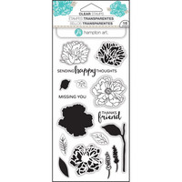 Hampton Art Layering Clear Stamps, Flower Happy