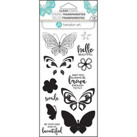 Hampton Art Layering Clear Stamps, Butterfly