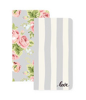 Color Crush Travelers' Notepad Set, Love Stripe & Floral, 2kpl