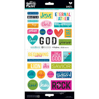 Illustrated Faith Basics Elements Stickers, His Name 2