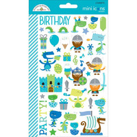 Doodlebug Mini Icons, Dragon Tails Stickers, 2 arkkia