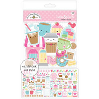 Doodlebug Odds & Ends Die-Cuts, Cream & Sugar, 103 osaa