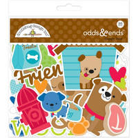 Doodlebug Odds & Ends Die-Cuts, Puppy Love, 95 osaa
