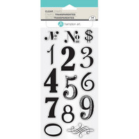 Hampton Art Clear Stamps, Numbers