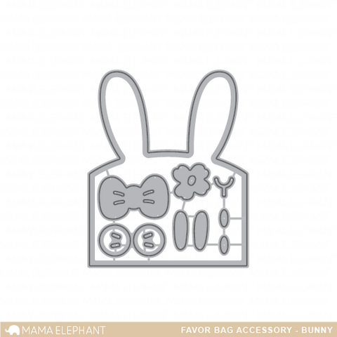 Stanssi, Mama Elephant Creative Cuts, Favor Bag Accessory - Bunny
