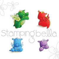 Leima, Stamping Bella, Set Of Dragons