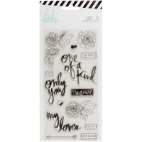 Heidi Swapp Magnolia Jane Clear Stamps, Only You Words & Icons