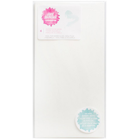 Jane Davenport Butterfly Effect Paper Inserts, Watercolor, 4 kpl