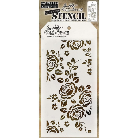 Tim Holtz Layered Stencil, Roses