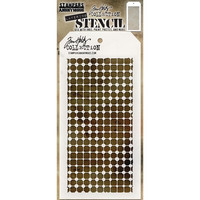 Tim Holtz Layered Stencil, Grid Dot
