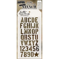 Tim Holtz Layered Stencil, Crate