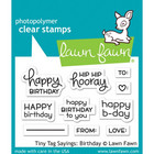Lawn Fawn - Leimasetti, Tiny Tag Sayings: Birthday
