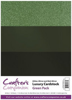 Crafter's Companion - Luxury Cardstock Pack, Green, 30 arkkia