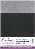 Crafter's Companion - Luxury Cardstock Pack, Ice Blue, 30 arkkia
