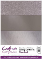 Crafter's Companion - Luxury Cardstock Pack, Silver, 30 arkkia
