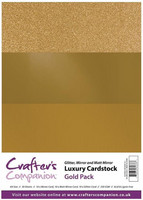 Crafter's Companion - Luxury Cardstock Pack, Gold, 30 arkkia