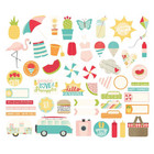 Simple Stories - Carpe Diem  Summer Days Bits & Pieces Die-Cuts, 52kpl