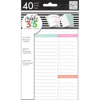 MAMBI Happy Planner - MINI paperisetti, Daily Sheets