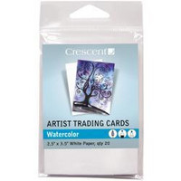 Crescent - Artist Trading Cards,  Watercolor, 20 kpl
