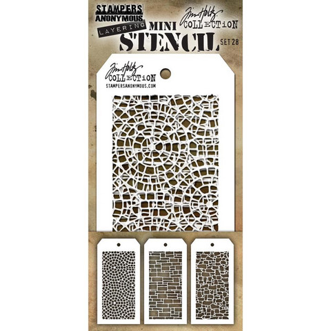 Tim Holtz - Mini Layered Stencil, Set #28