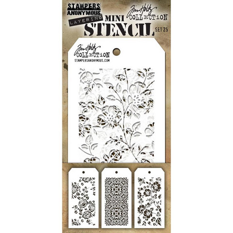 Tim Holtz - Mini Layered Stencil, Set #25