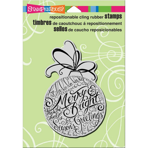 Stampendous - Leima, Merry Ornament