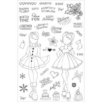 Prima Marketing - Julie Nutting Planner Clear Stamps, Holiday Bliss