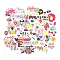 Prima Marketing - My Prima Planner Ephemera Cardstock Die-Cuts, Good Vibes, 69 osaa