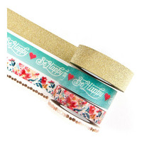 Prima Marketing - Prima Traveler's Journal Decorative Tape, Be Happy, 4rullaa