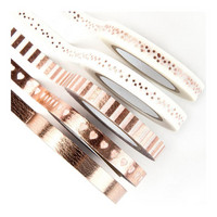 Prima Marketing - My Prima Planner Sugar Tapes, Frank Garcia Rose Gold Foiled, 5rullaa