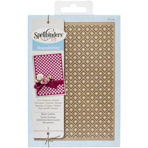 Spellbinders - Stanssi, Shapeabilities Expandable Pattern Basic Lattice